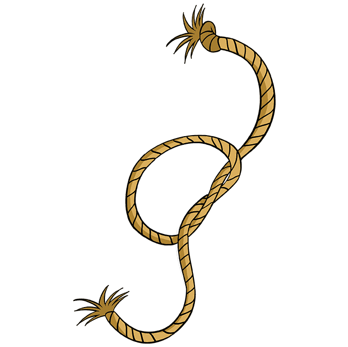 How to Draw Rope: Step 10