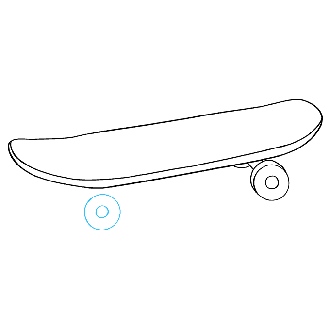 How to Draw Skateboard: Step 7