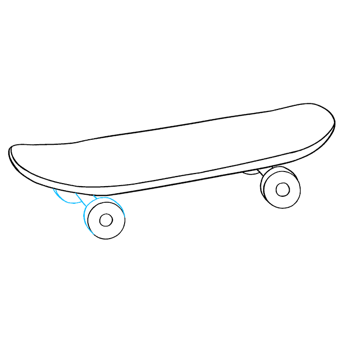 How to Draw Skateboard: Step 8