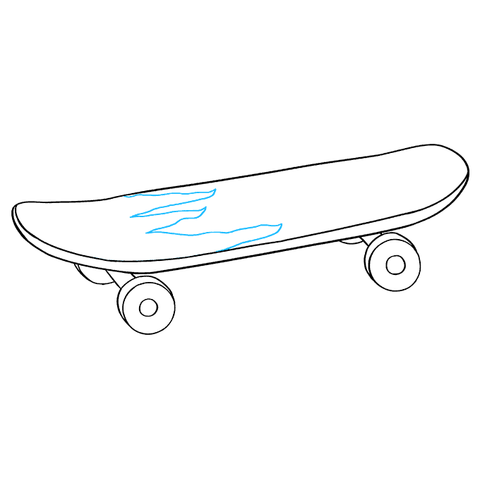 How to Draw Skateboard: Step 9