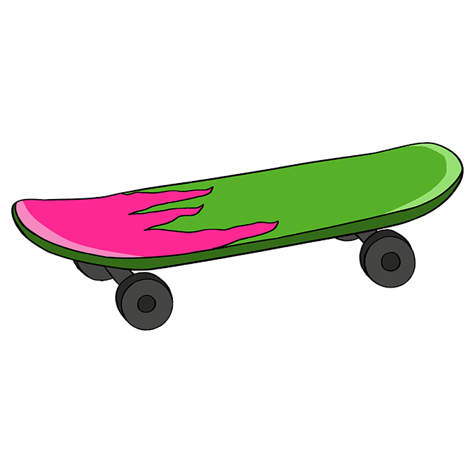 How to Draw Skateboard: Step 10