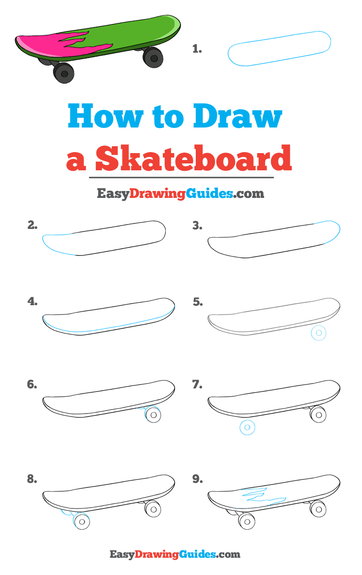 How to Draw Skateboard