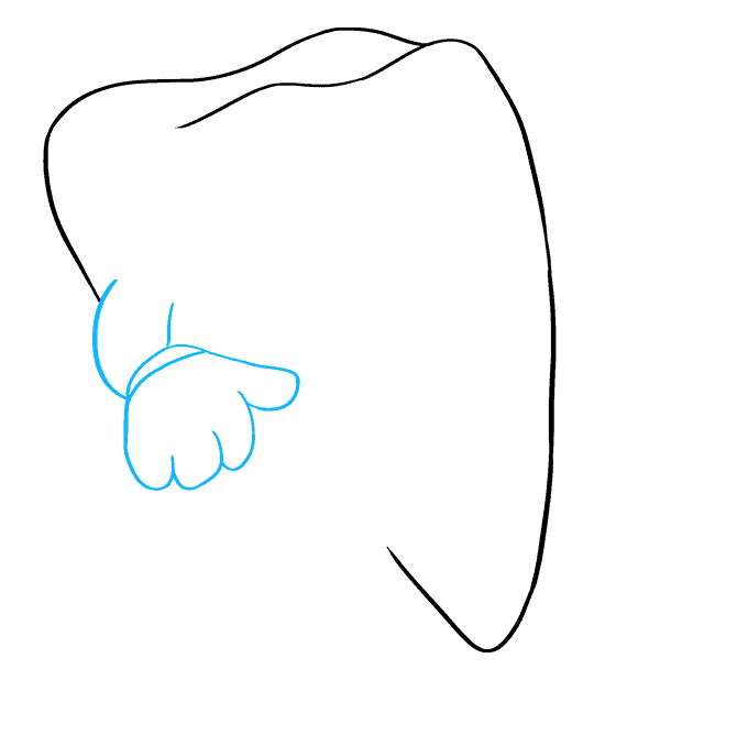 How to Draw Tooth: Step 4