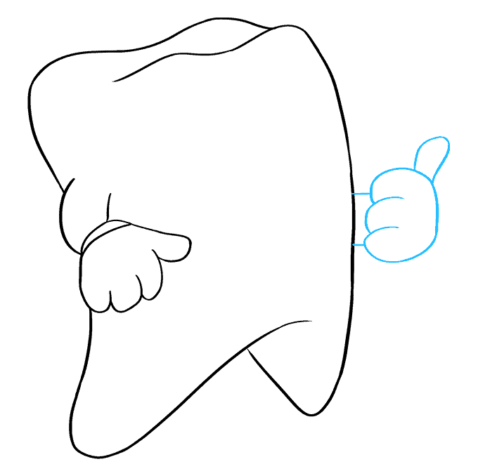 How to Draw Tooth: Step 6