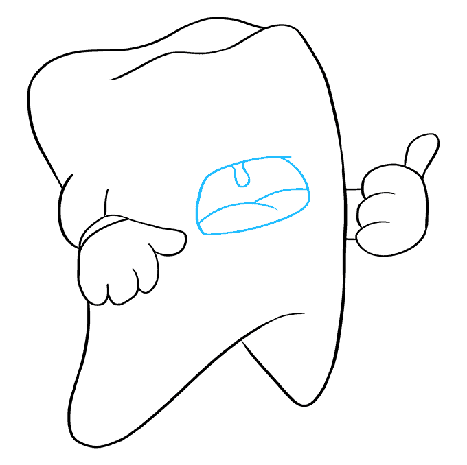 How to Draw Tooth: Step 7