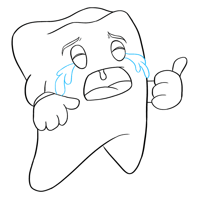 How to Draw a Tooth Step 09