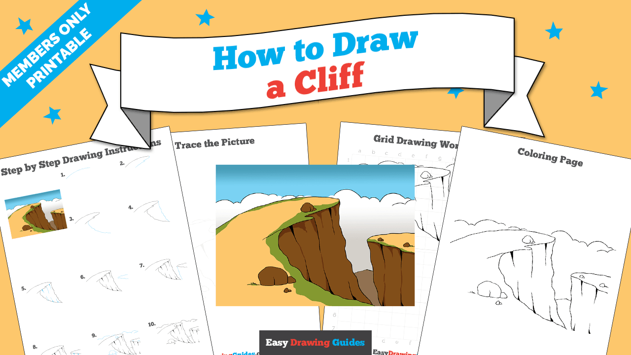 download a printable PDF of Cliff drawing tutorial
