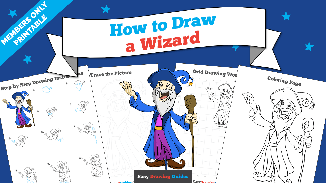download a printable PDF of Wizard drawing tutorial