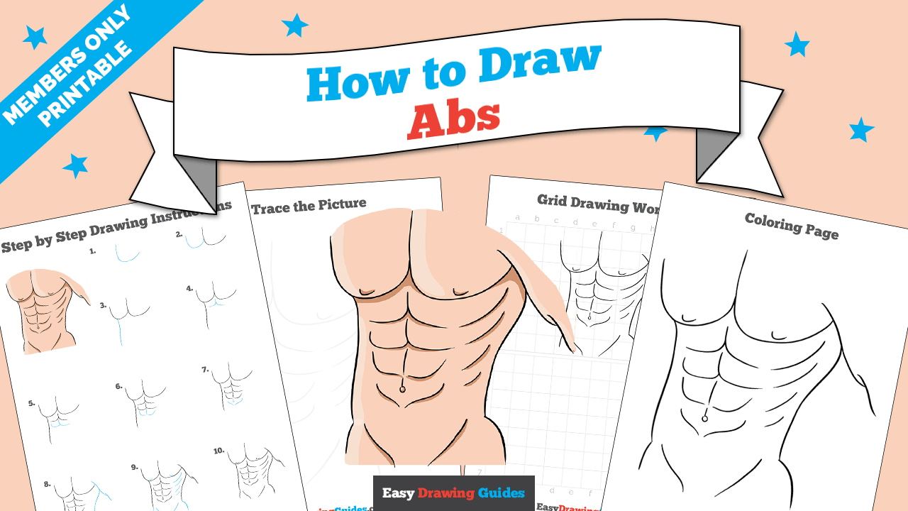 download a printable PDF of Abs drawing tutorial