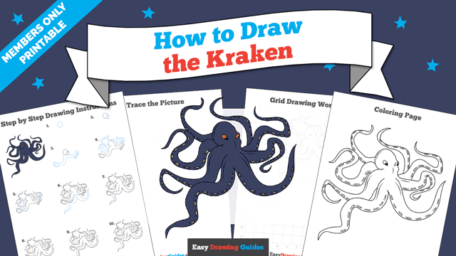 Printables thumbnail: How to draw the kraken