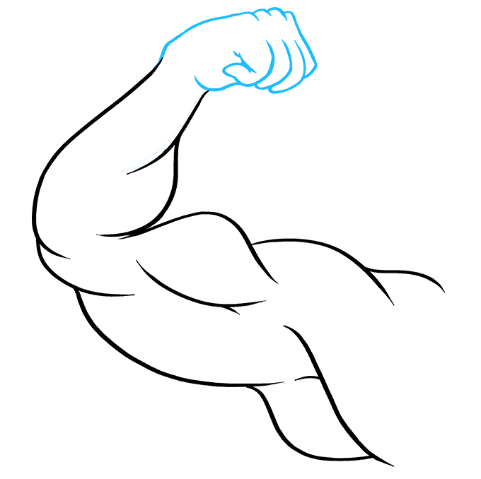 How to Draw Biceps: Step 8