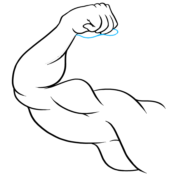 How to Draw Biceps: Step 9