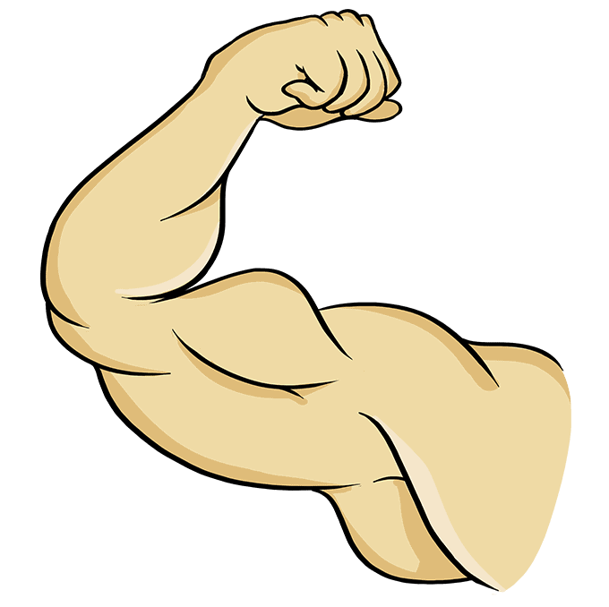 How to Draw Biceps: Step 10
