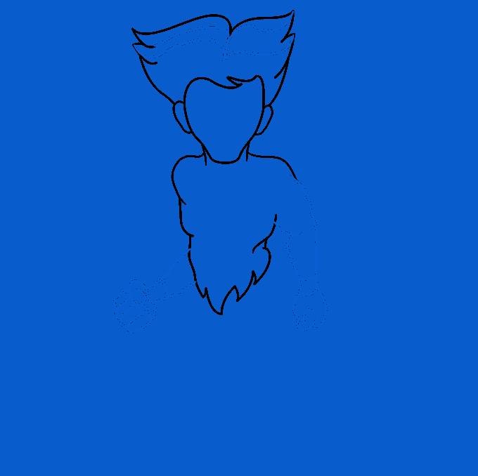How to Draw a Centaur Step 03