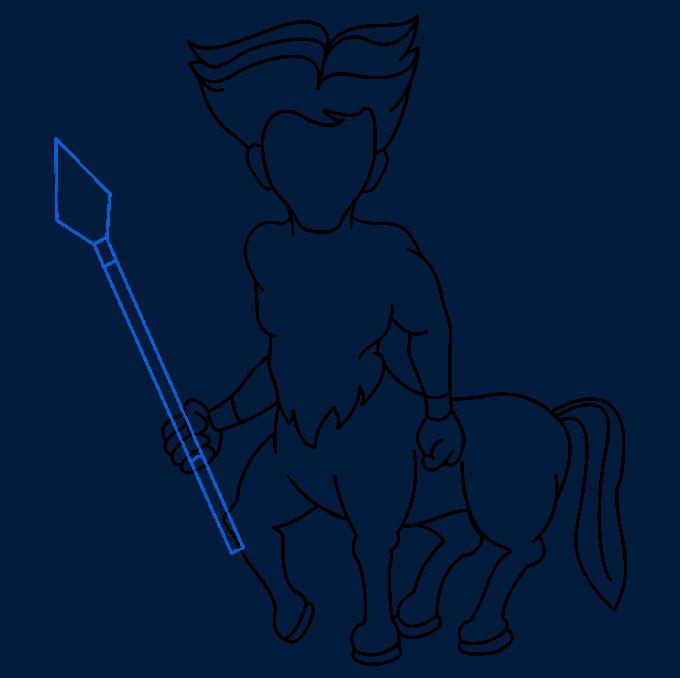 How to Draw a Centaur Step 08