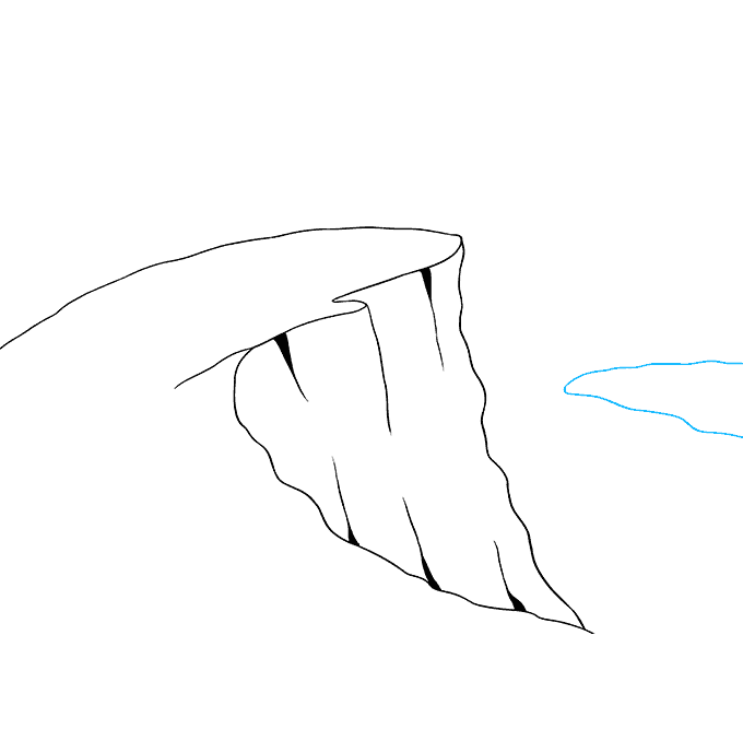 How to Draw Cliff: Step 6
