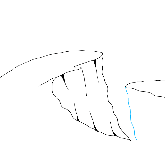 How to Draw Cliff: Step 7