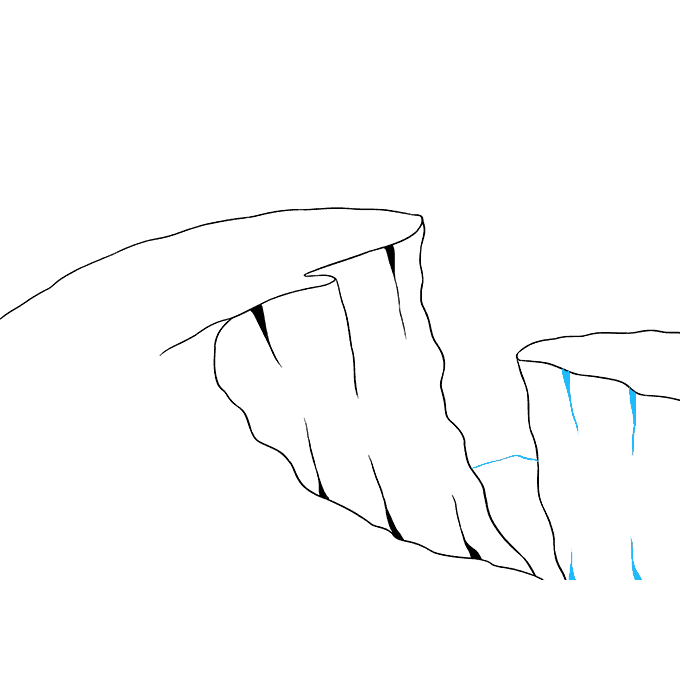 How to Draw Cliff: Step 8