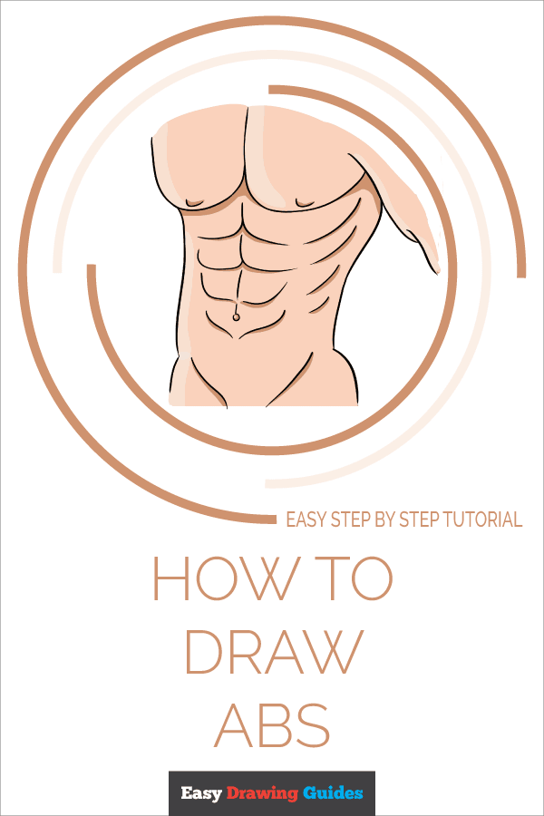 How to Draw Abs Pinterest Image