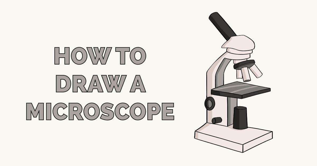 how to draw a microscope really easy drawing tutorial how to draw a microscope really easy