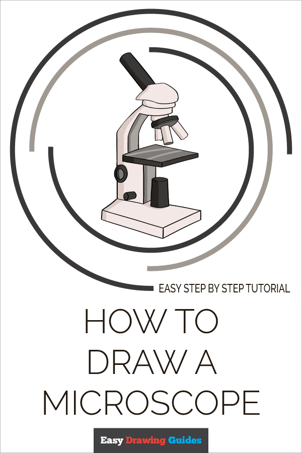How to Draw Microscope | Share to Pinterest