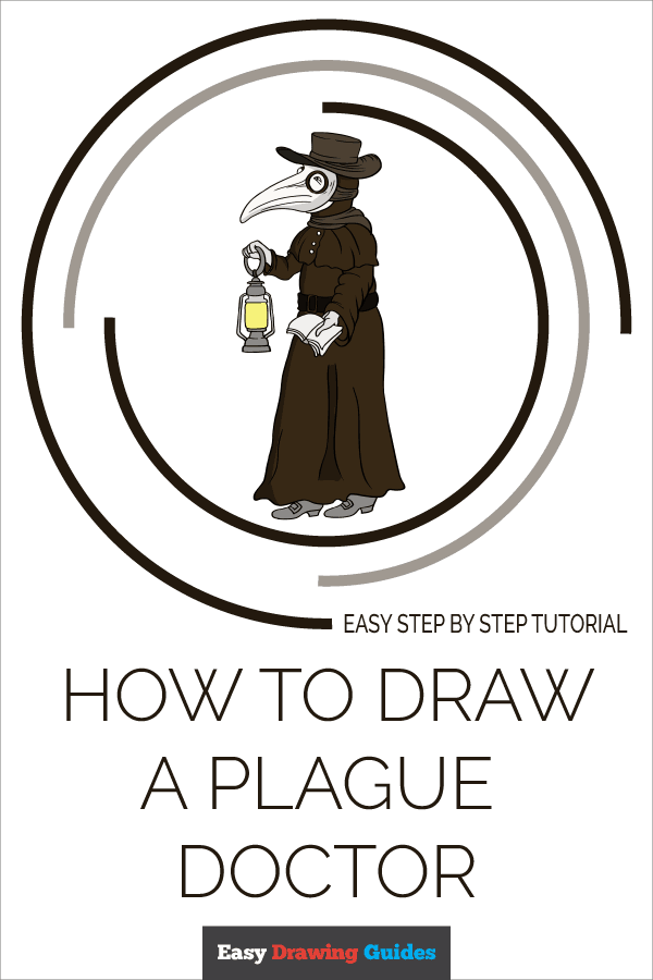 How to Draw Plague Doctor | Share to Pinterest