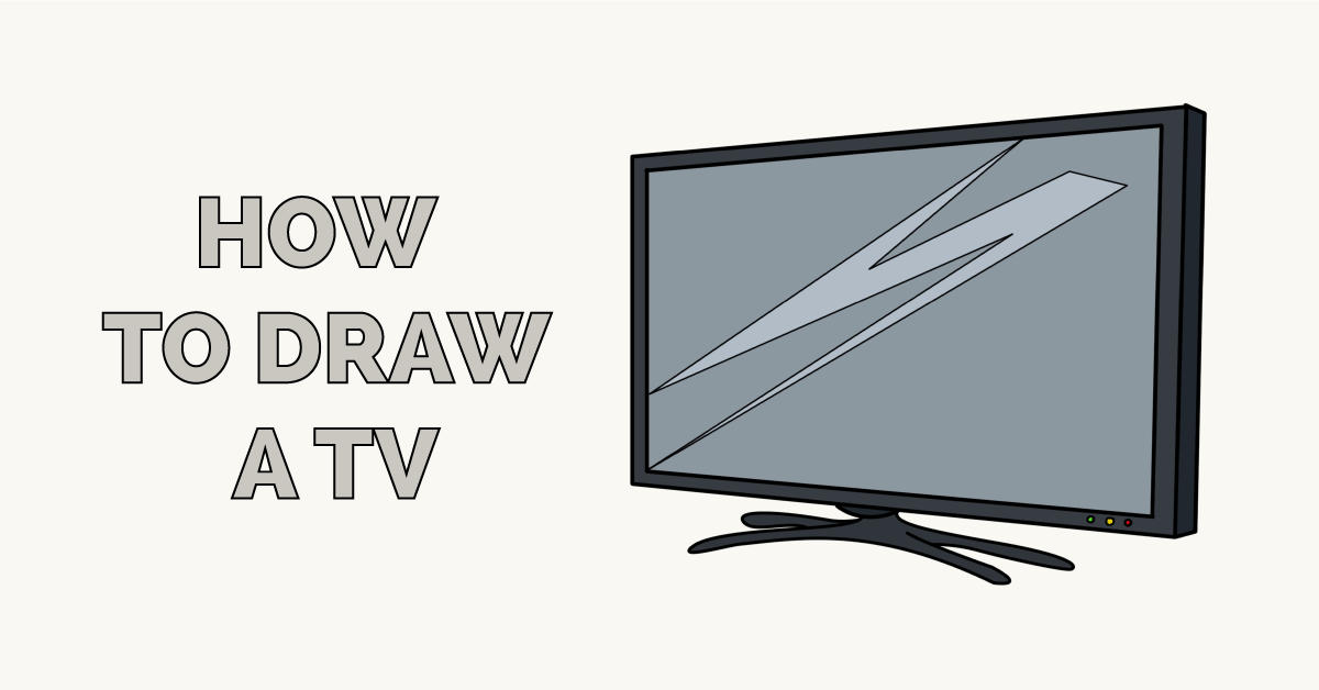 How to Draw a TV Featured Image