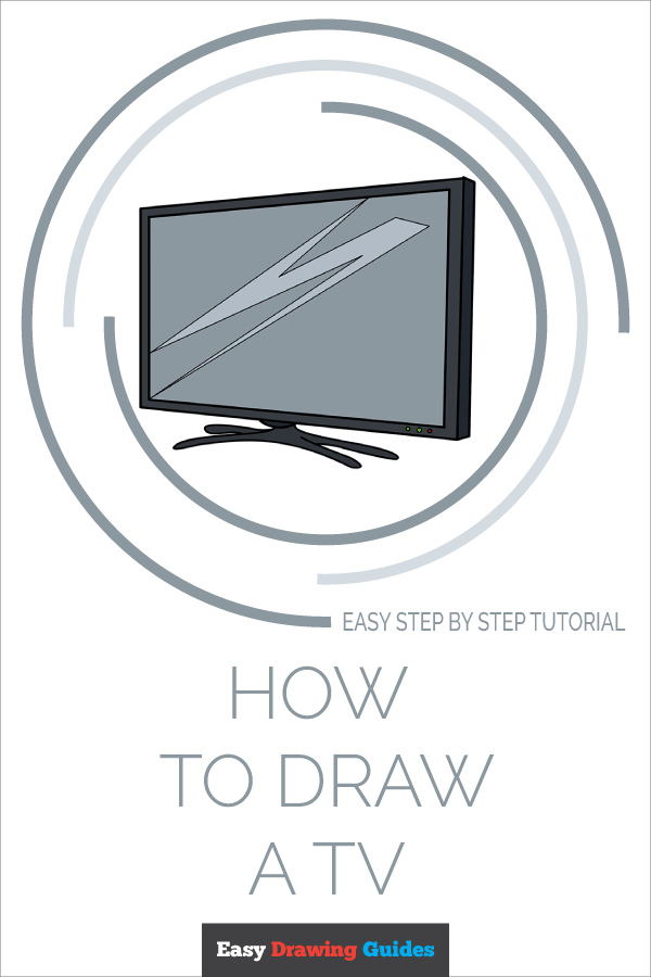 How to Draw TV | Share to Pinterest