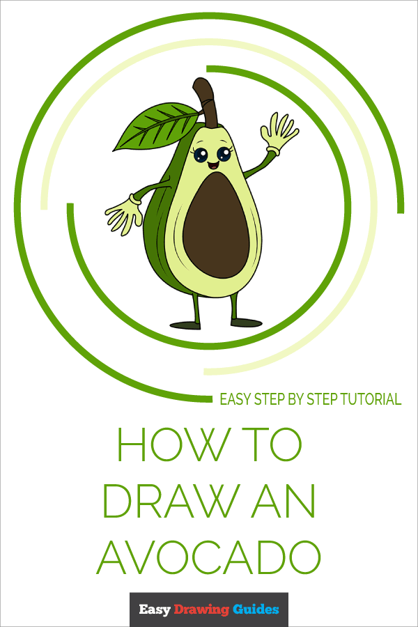 How to Draw Avocado | Share to Pinterest
