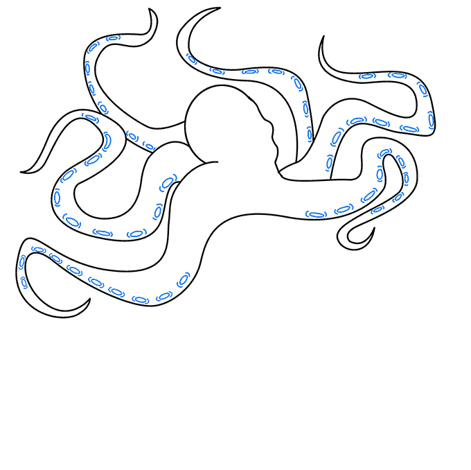 How to Draw Kraken: Step 5