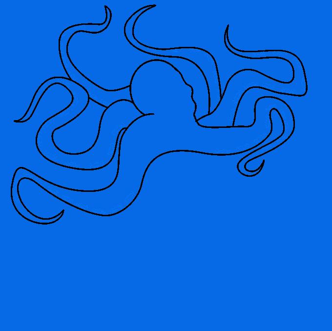 Cómo dibujar Kraken: Paso 5