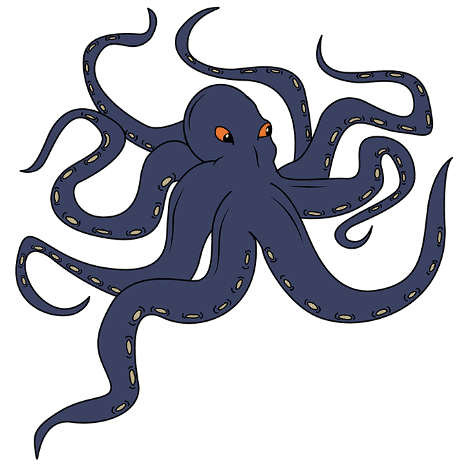 How to Draw Kraken: Step 10