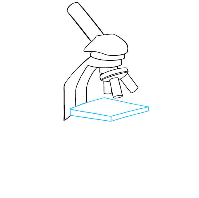 How to Draw Microscope: Step 5