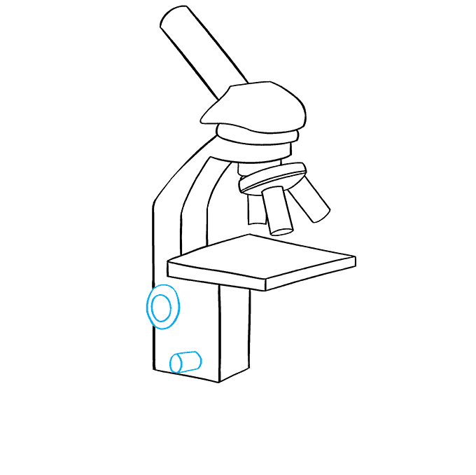 How to Draw Microscope: Step 7