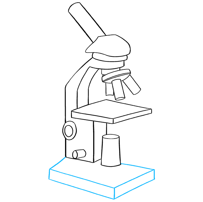 How to Draw Microscope: Step 9