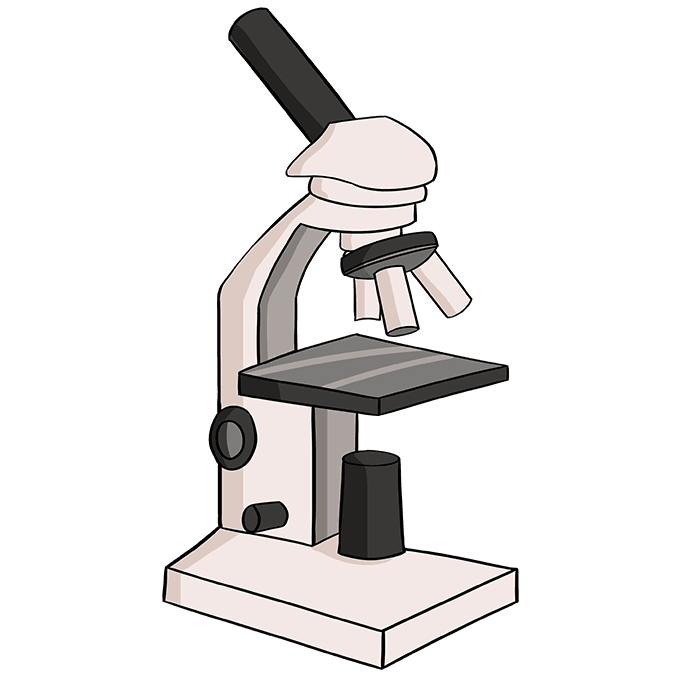 How to Draw Microscope: Step 10