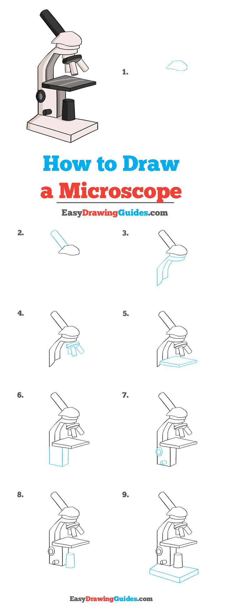 How to Draw Microscope