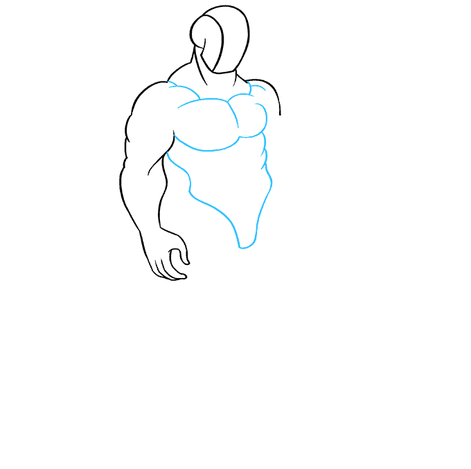 How to Draw Muscles: Step 5
