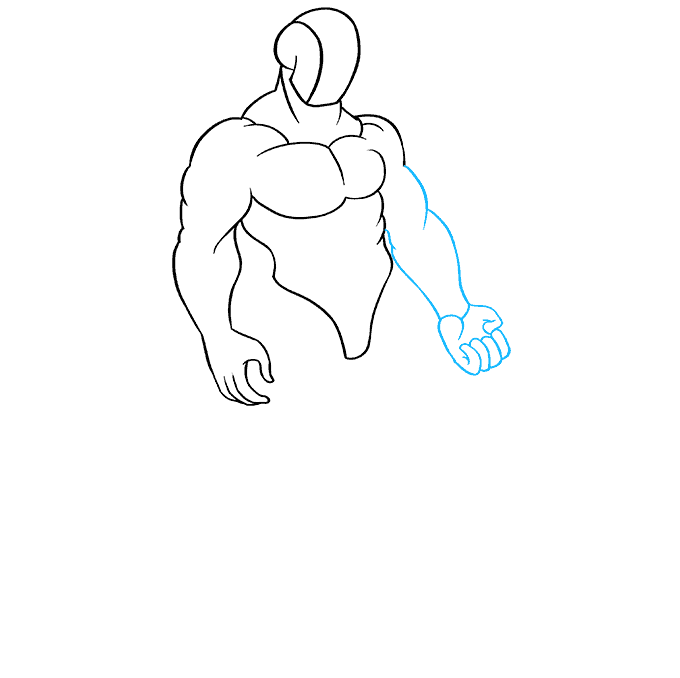 How to Draw Muscles: Step 6