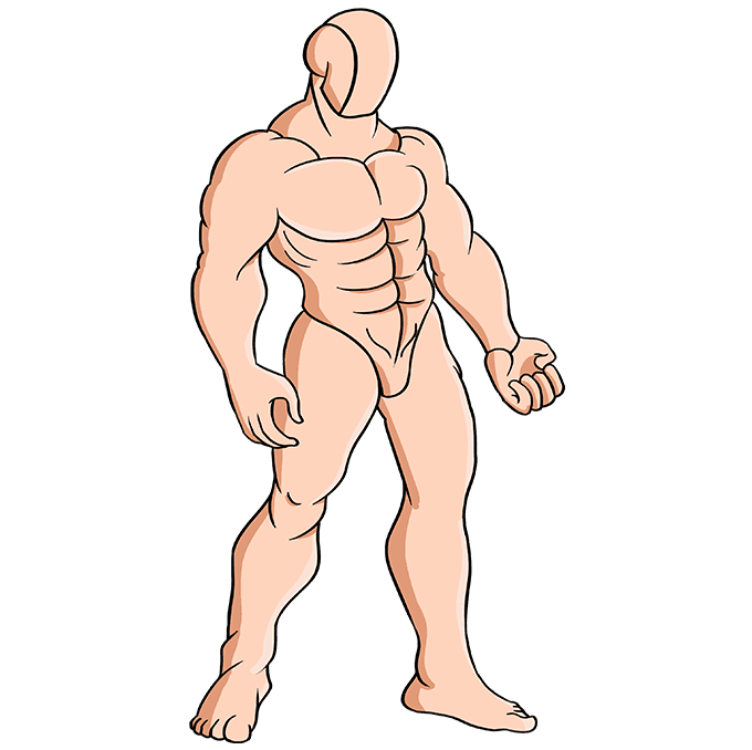 How to Draw Muscles: Step 10