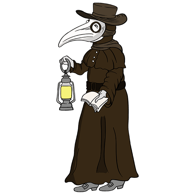 How to Draw Plague Doctor: Step 10