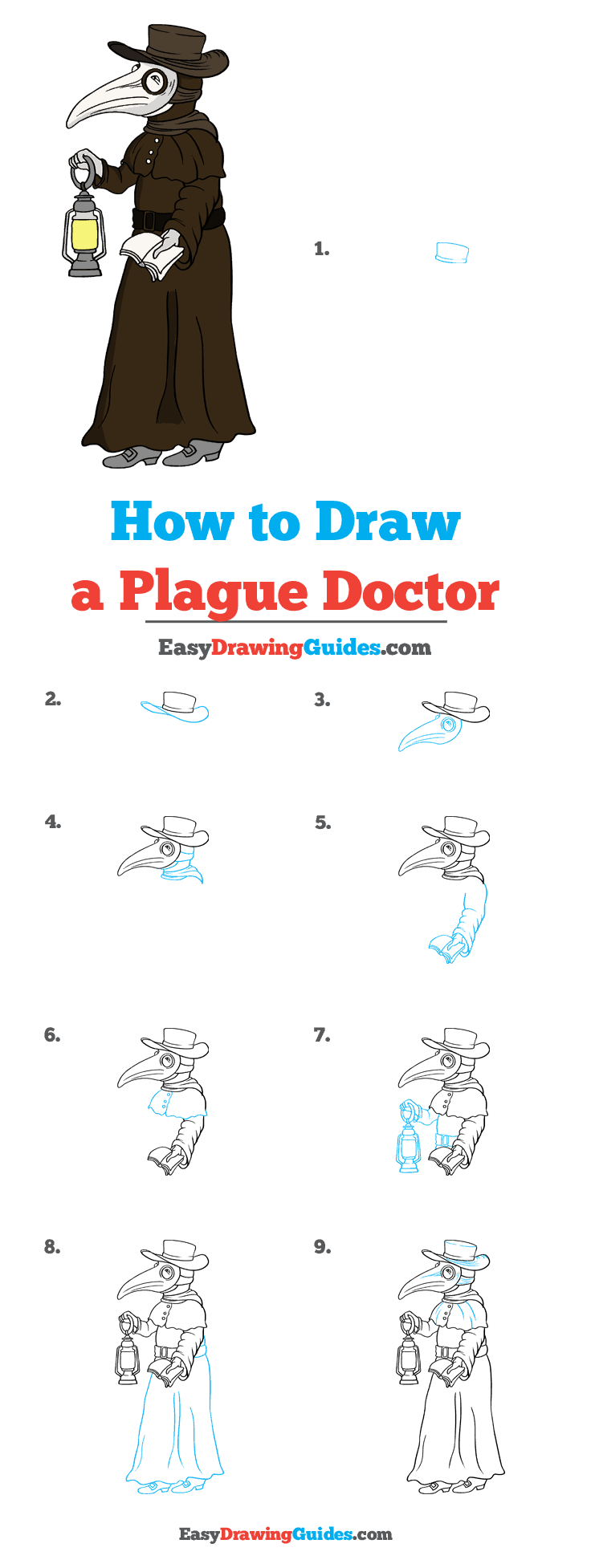 How to Draw Plague Doctor
