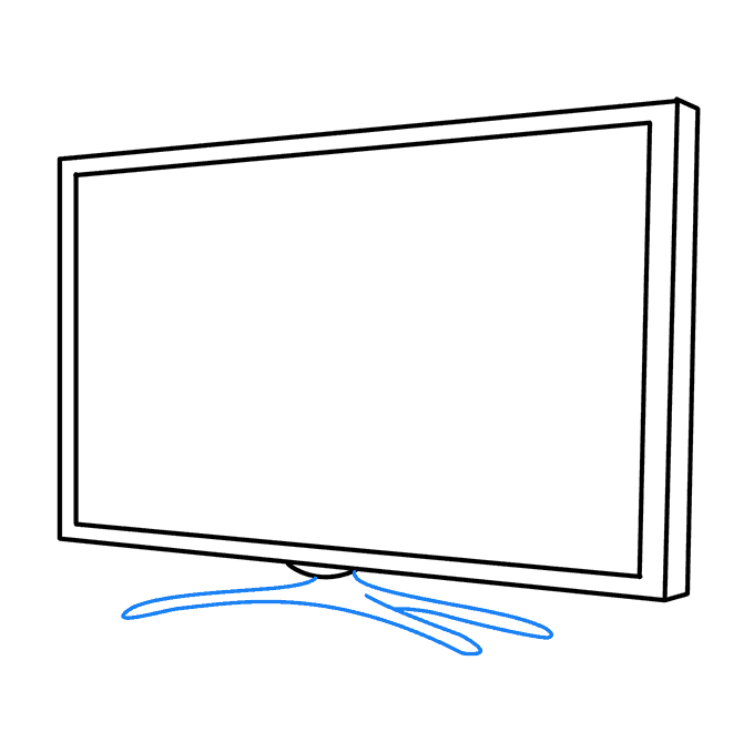 How to Draw TV: Step 7