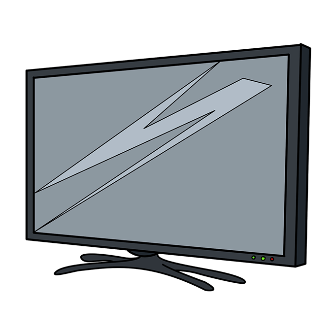 How to Draw TV: Step 10