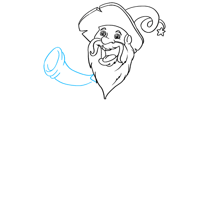 How to Draw Wizard: Step 4