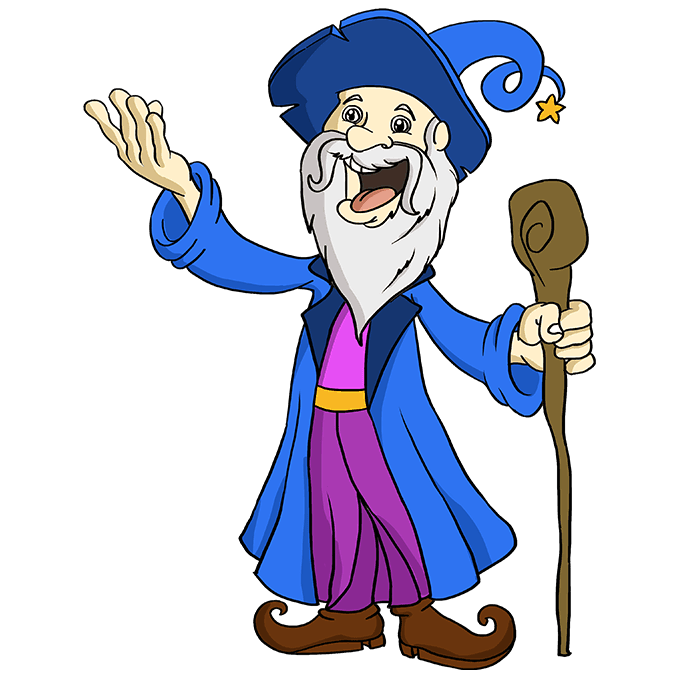 How to Draw Wizard: Step 10