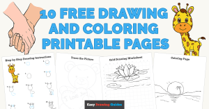 10 Free Drawing and Coloring Printable Pages