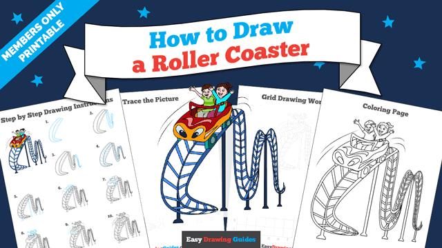 download a printable PDF of Roller Coaster drawing tutorial