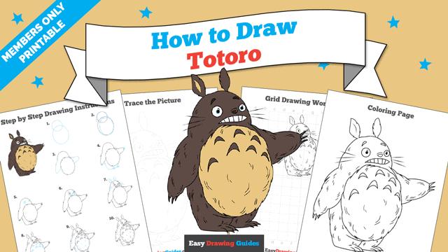 download a printable PDF of Totoro drawing tutorial