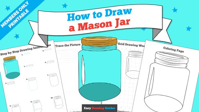 download a printable PDF of Mason Jar drawing tutorial